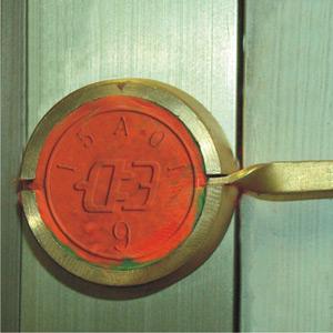 Латунный чашка для опломбирования пластилиновыми пломбами